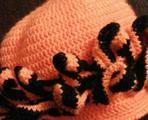 Вязанная шапка на девочку